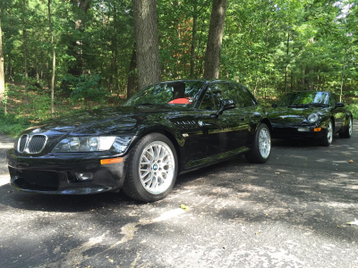 2001 BMW Z3 Coupe in Jet Black 2 over Extended Dream Red