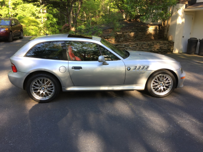 2001 BMW Z3 Coupe in Titanium Silver Metallic over Dream Red