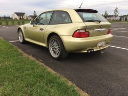 2002 BMW Z3 Coupe in Pistachio Green Metallic over Black