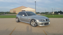 1998 BMW Z3 Coupe in Arctic Silver Metallic over Black