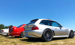 2000 BMW Z3 Coupe in Titanium Silver Metallic over Black