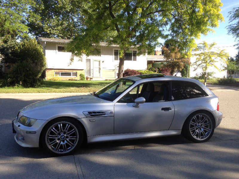 1999 BMW Z3 Coupe in Arctic Silver Metallic over Black