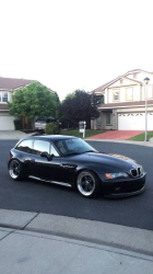 1999 BMW Z3 Coupe in Cosmos Black Metallic over Walnut