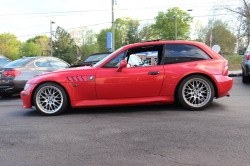 1999 BMW Z3 Coupe in Hell Red over Black