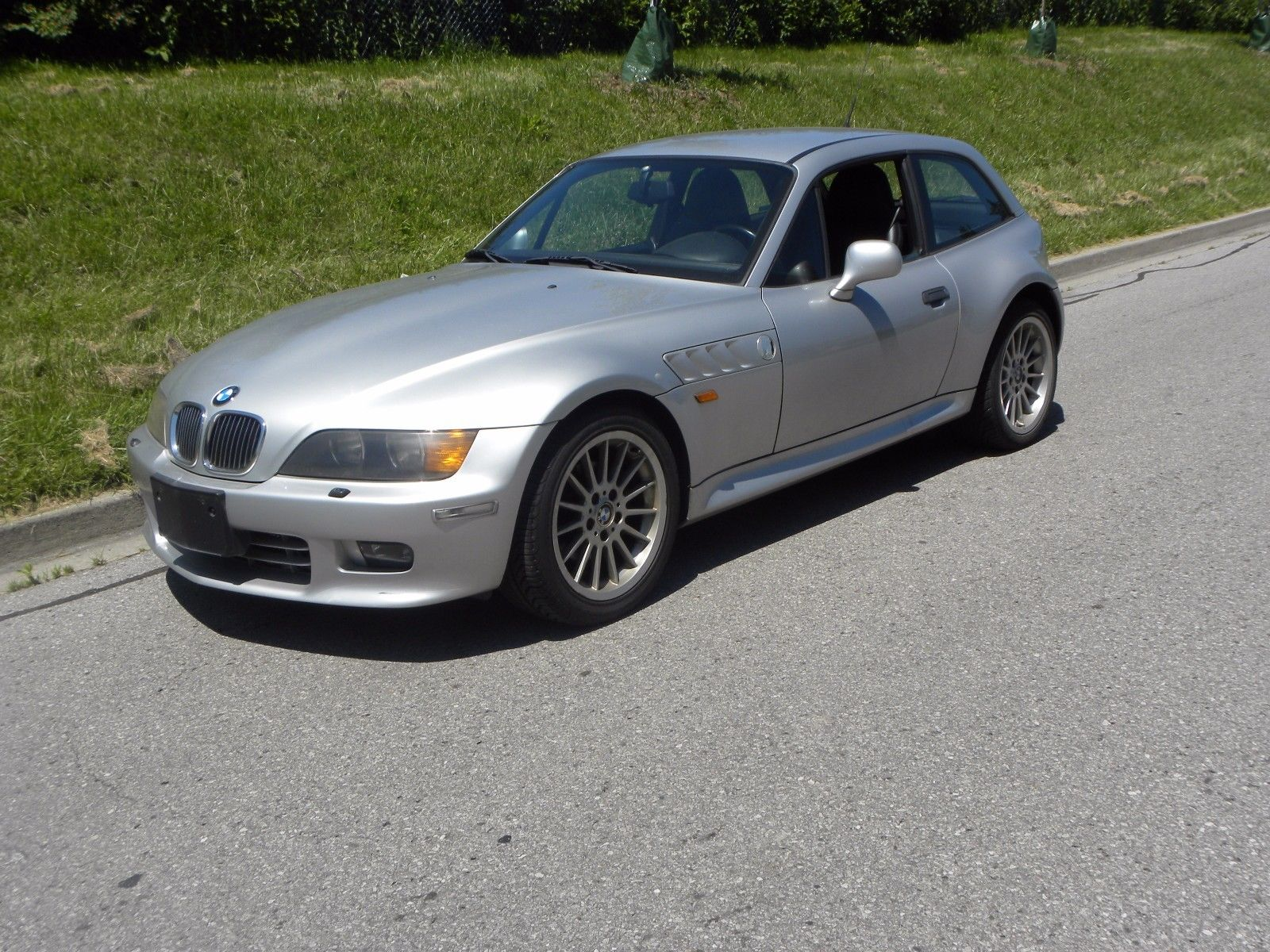 1999 BMW Z3 Coupe in Arctic Silver Metallic over Extended Black