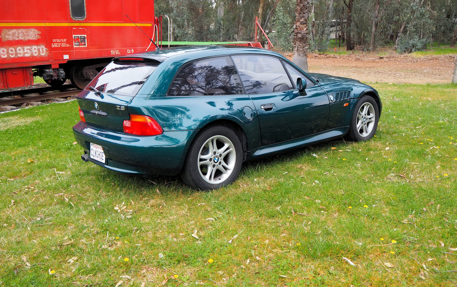 1999 BMW Z3 Coupe in Boston Green Metallic over E36 Sand Beige
