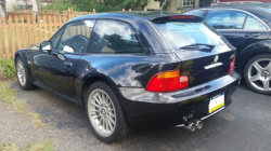 1999 BMW Z3 Coupe in Cosmos Black Metallic over Extended Black