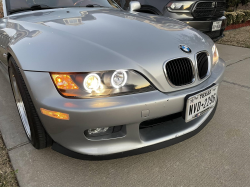 1999 BMW Z3 Coupe in Arctic Silver Metallic over Extended Tanin Red