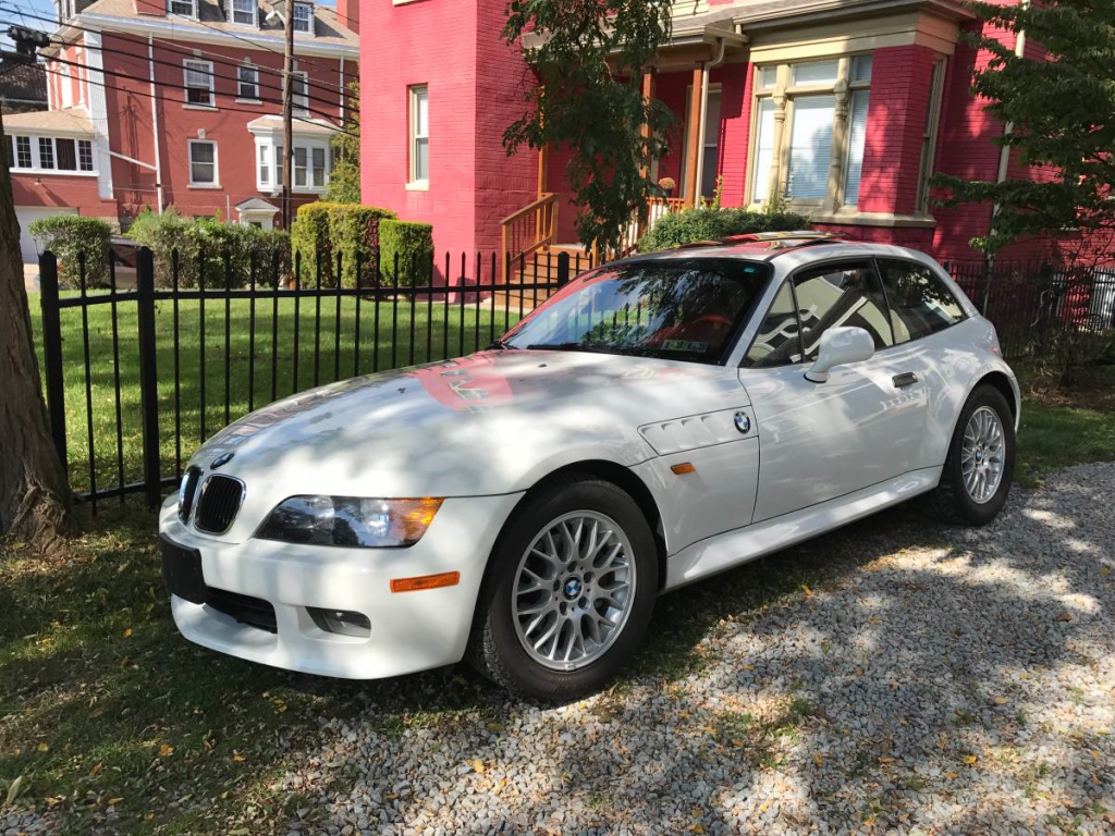 1999 BMW Z3 Coupe in Alpine White 3 over Extended Tanin Red