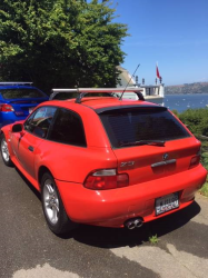 2000 BMW Z3 Coupe in Hell Red 2 over E36 Sand Beige