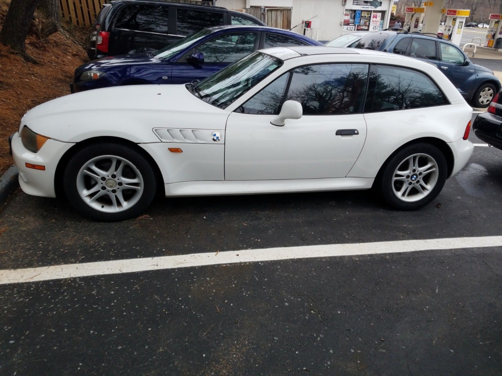1999 BMW Z3 Coupe in Alpine White 3 over Tanin Red