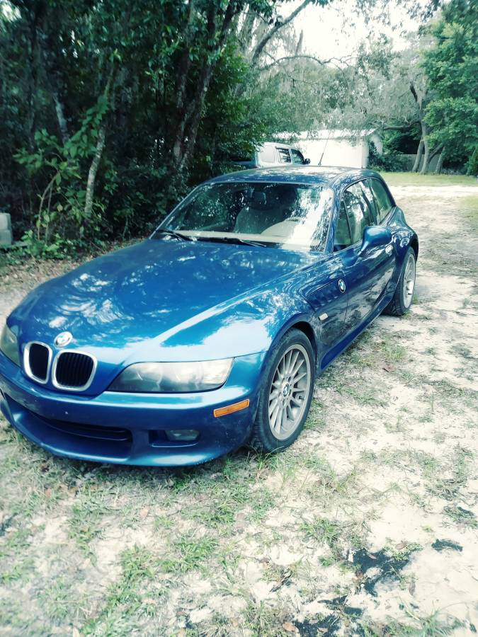2000 BMW Z3 Coupe in Topaz Blue Metallic over Extended Beige