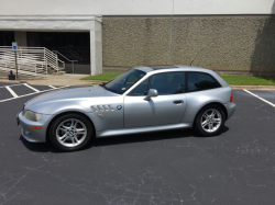 2000 BMW Z3 Coupe in Titanium Silver Metallic over Tanin Red