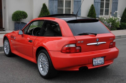 2001 BMW Z3 Coupe in Hell Red 2 over Extended Beige