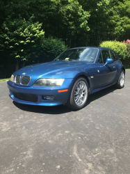 2001 BMW Z3 Coupe in Topaz Blue Metallic over Topaz Blue