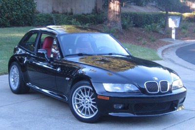 2002 BMW Z3 Coupe in Jet Black 2 over Dream Red