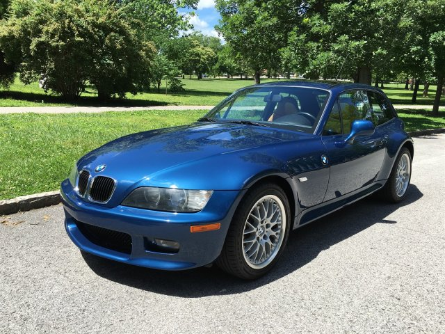 2002 BMW Z3 Coupe in Topaz Blue Metallic over Walnut