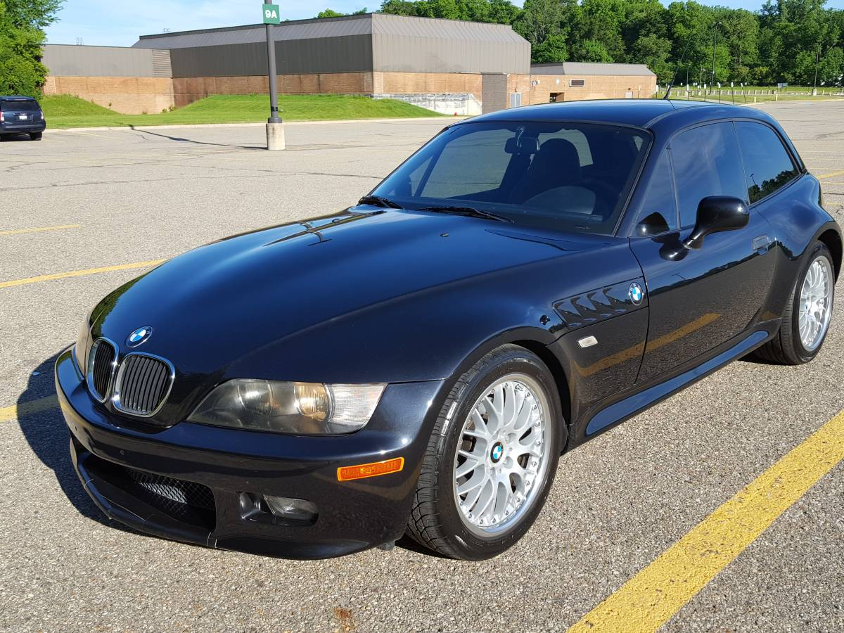 2001 BMW Z3 Coupe in Cosmos Black Metallic over Walnut