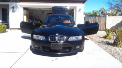2001 BMW Z3 Coupe in Black Sapphire Metallic over Extended Walnut