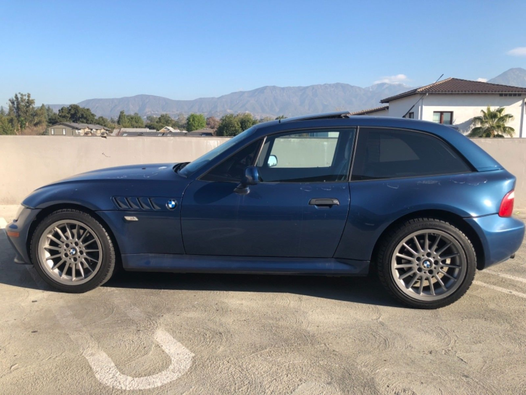 2002 BMW Z3 Coupe in Topaz Blue Metallic over Black