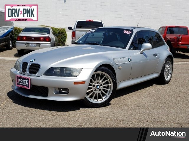 2002 BMW Z3 Coupe in Titanium Silver Metallic over Black