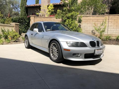 2002 BMW Z3 Coupe in Titanium Silver Metallic over Extended Black