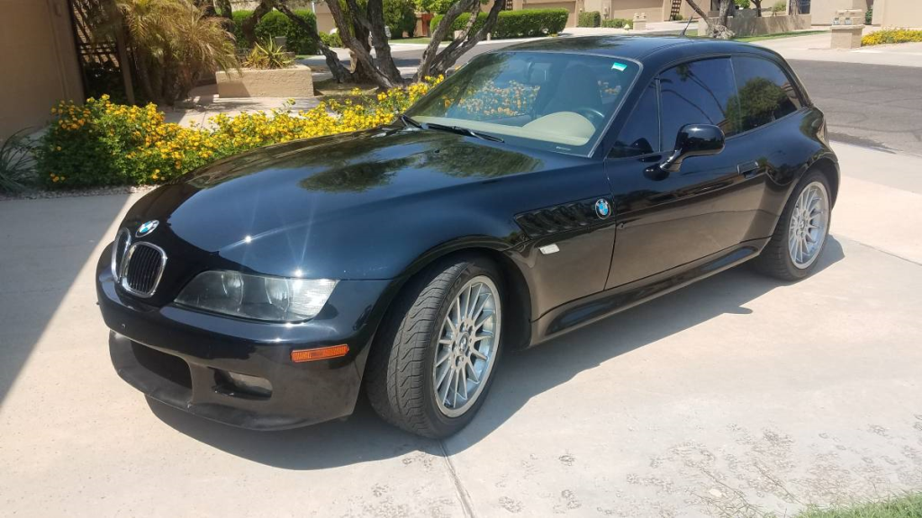 2002 BMW Z3 Coupe in Jet Black 2 over E36 Sand Beige